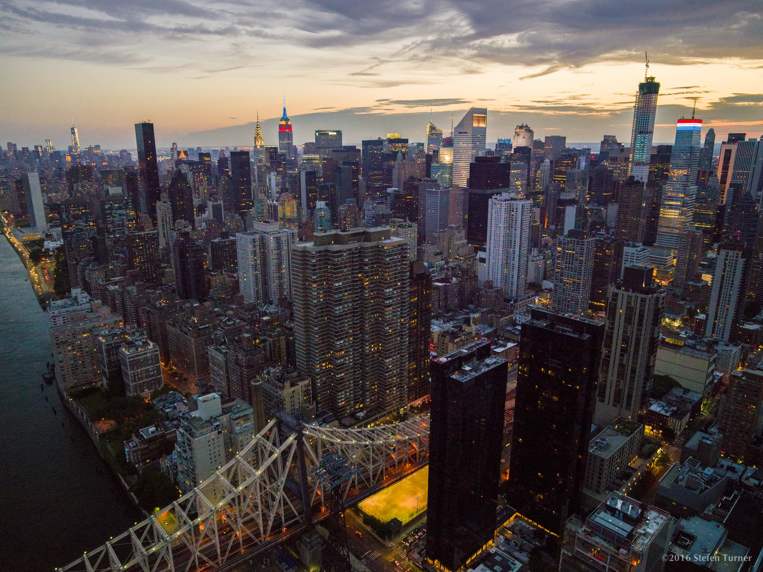 New York City aerial photography by Stefen Turne