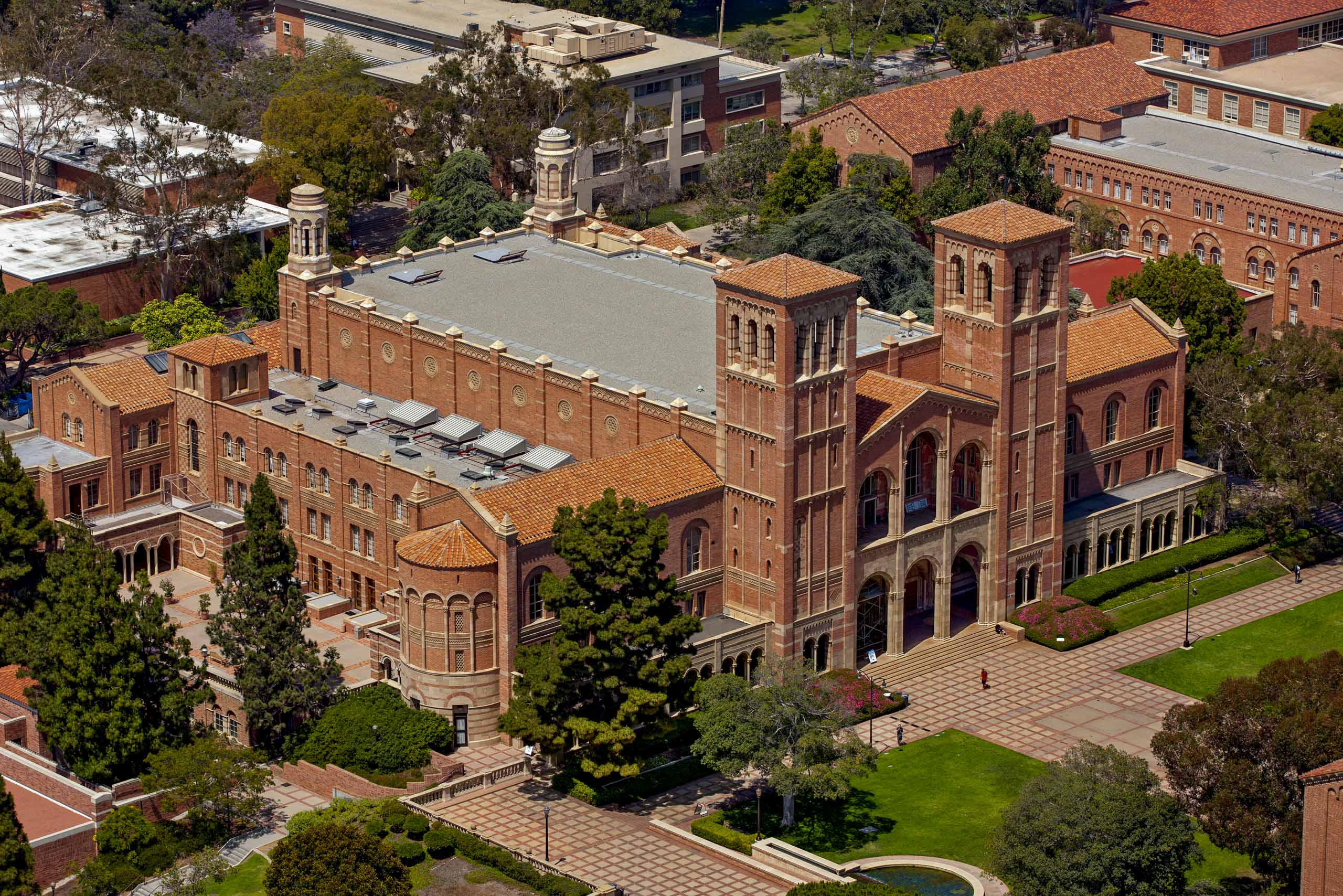 UCLA Powell Library Los Angeles Aerial photography