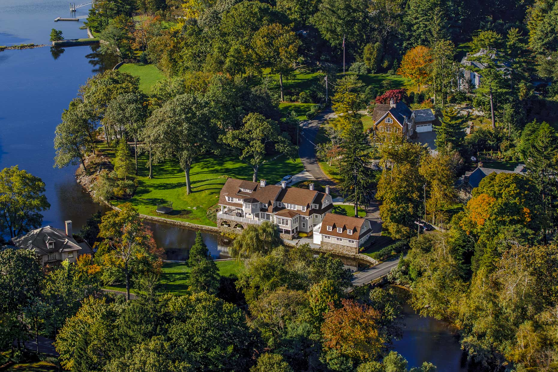 Darien CT aerial photography for Sotheby