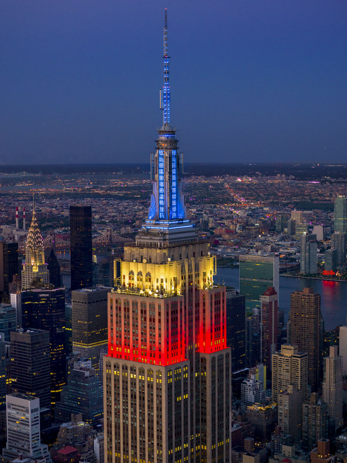 NY LA Aerial Photographer | Empire State Building on the 4th of July