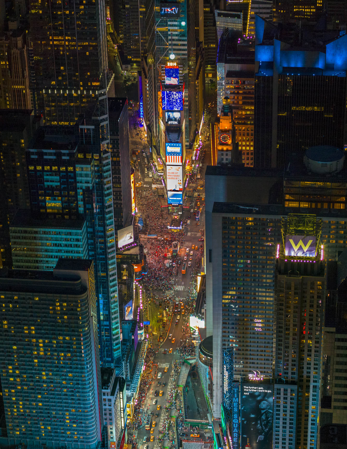 Times Square NYC aerial photography 7