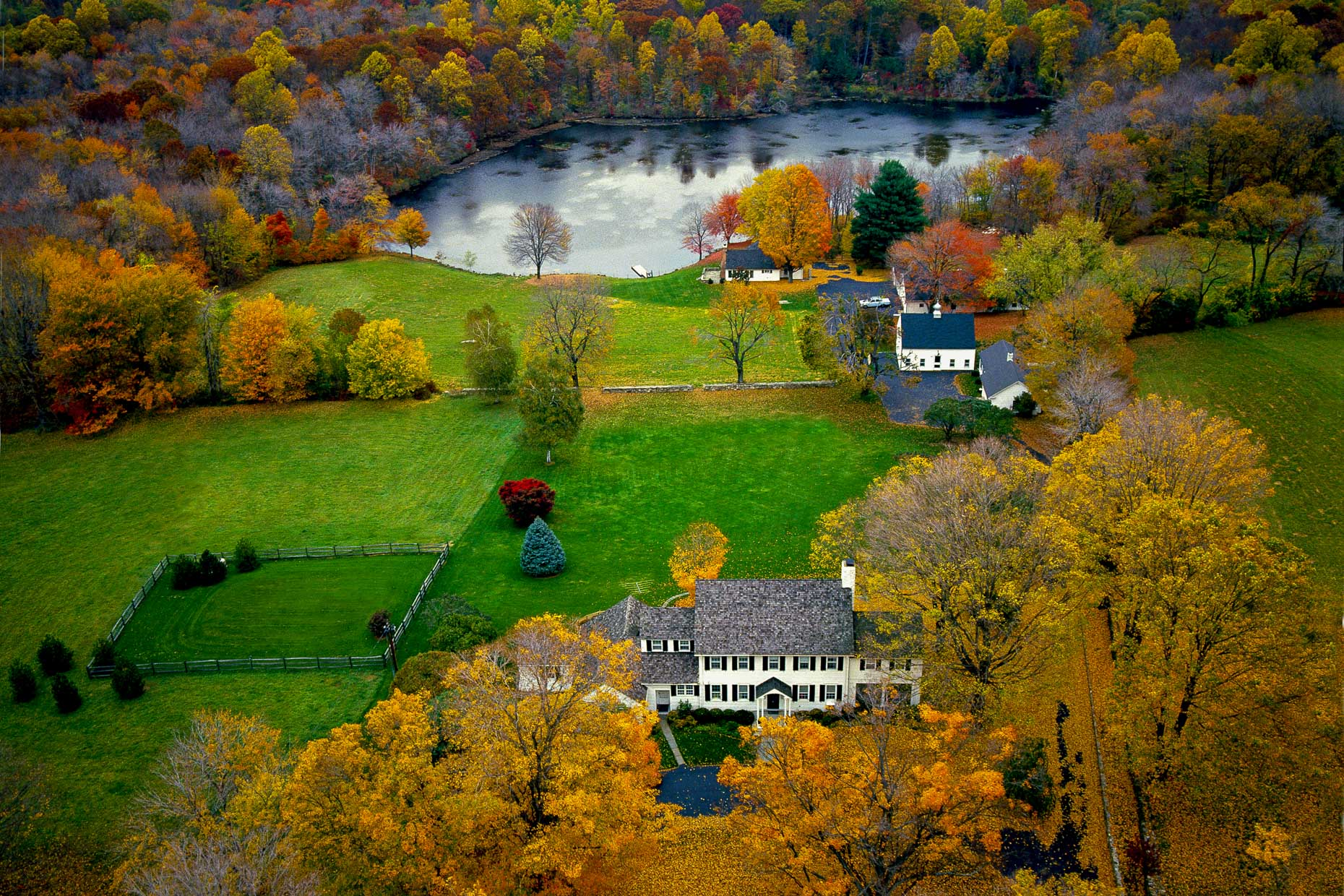 Wilton Connecticut aerial photography