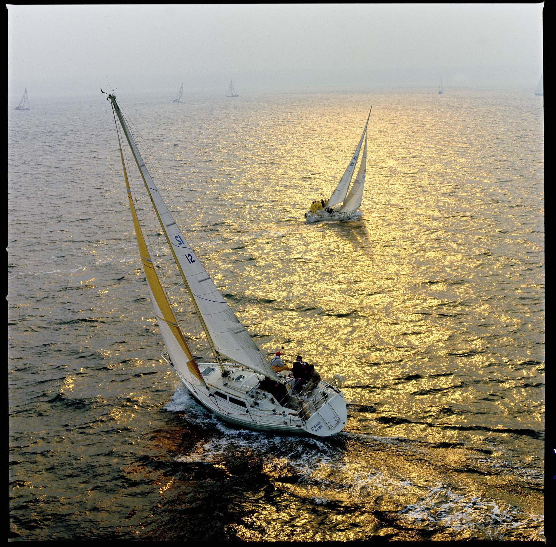 Aerial photography of yachts and ships by Stefen Turner
