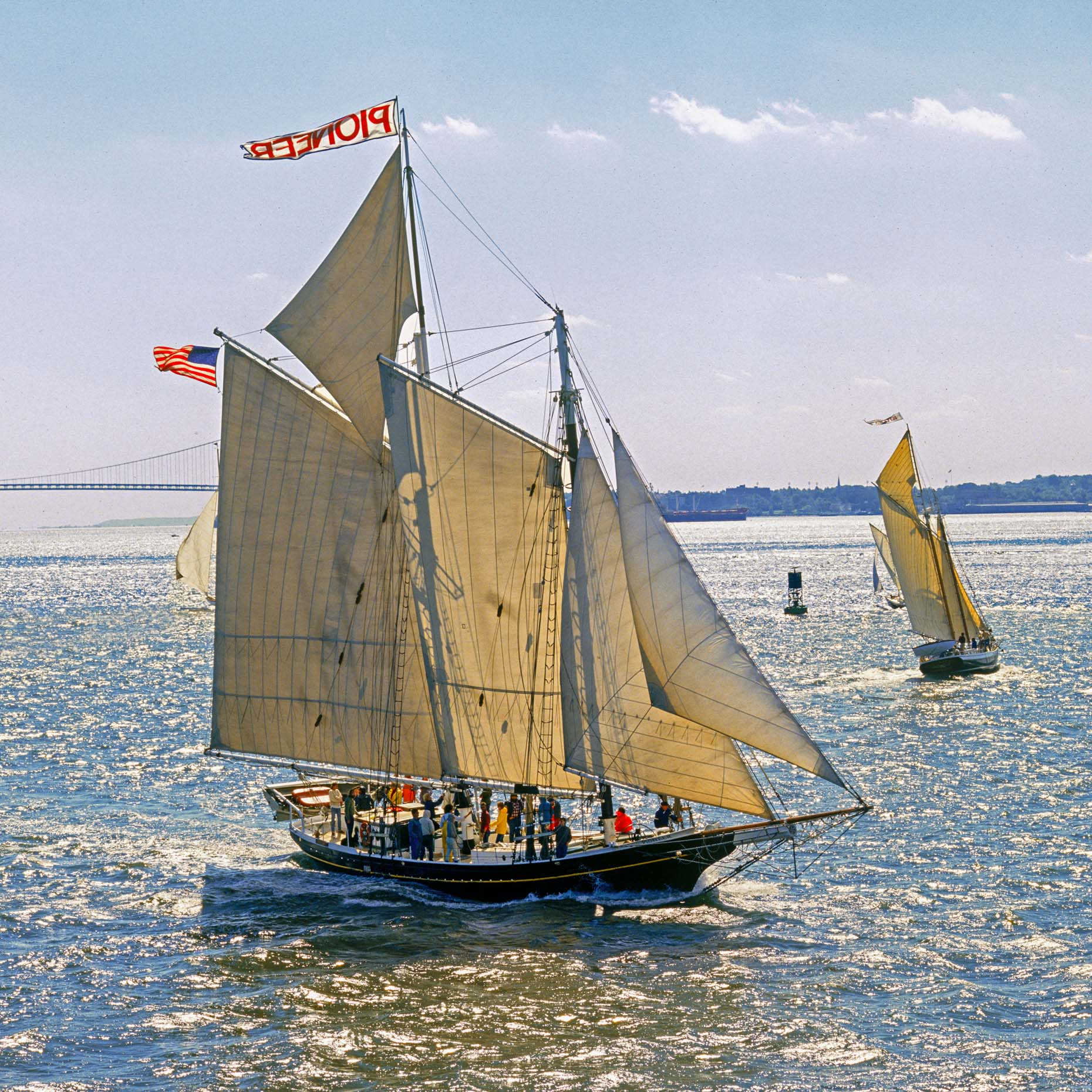 Yachting NY aerial photography - Pioneer schooner