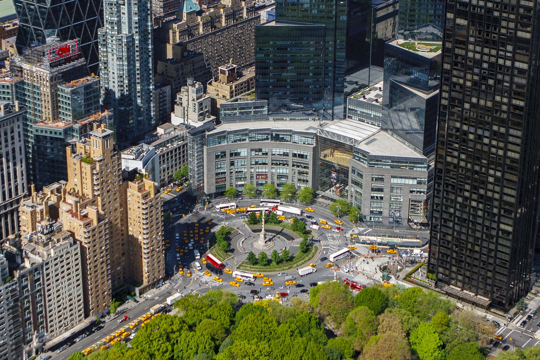 New York City aerial photography | Columbus Circle