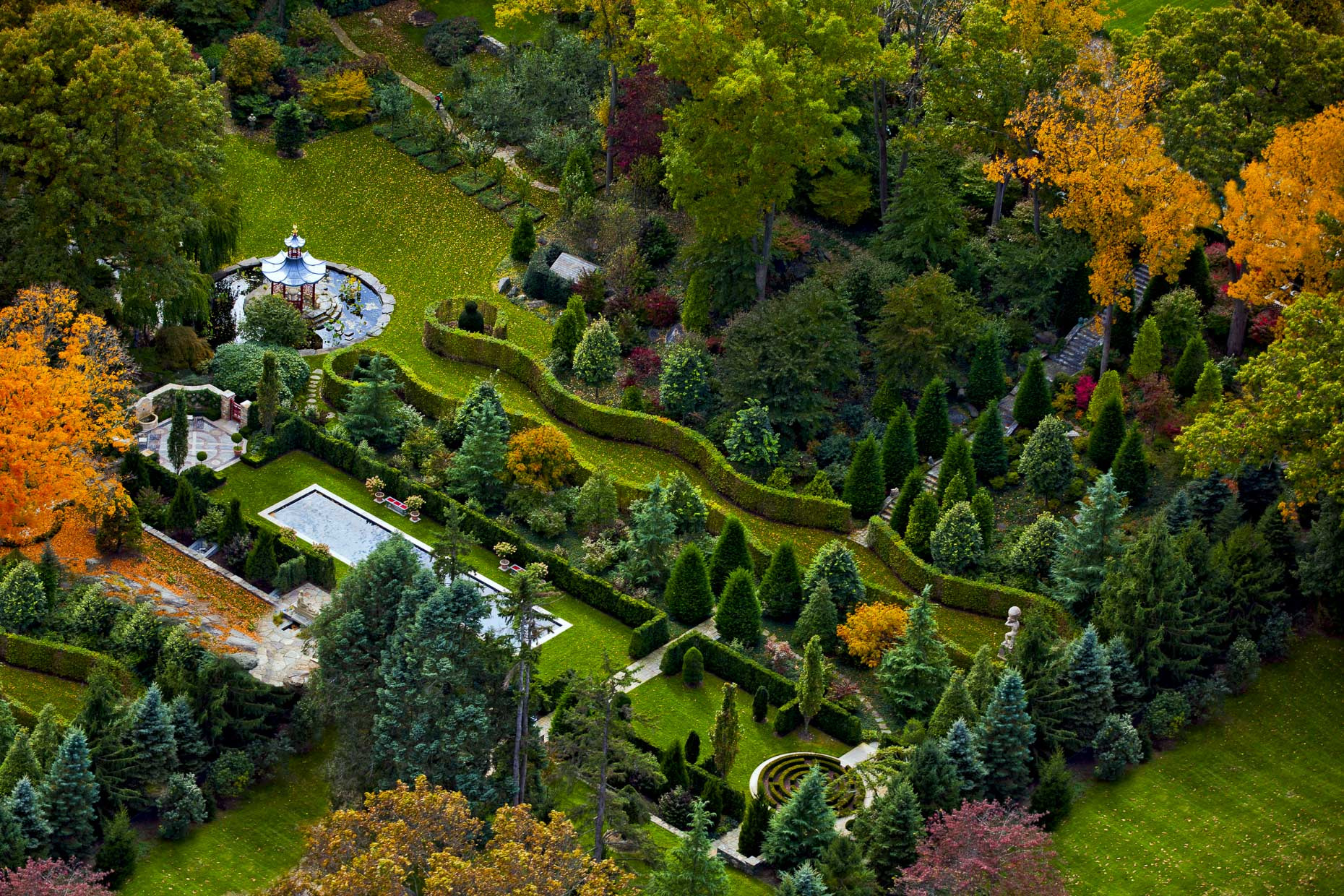 Aerial Photography of Homes and Estates in Greenwich Connecticut