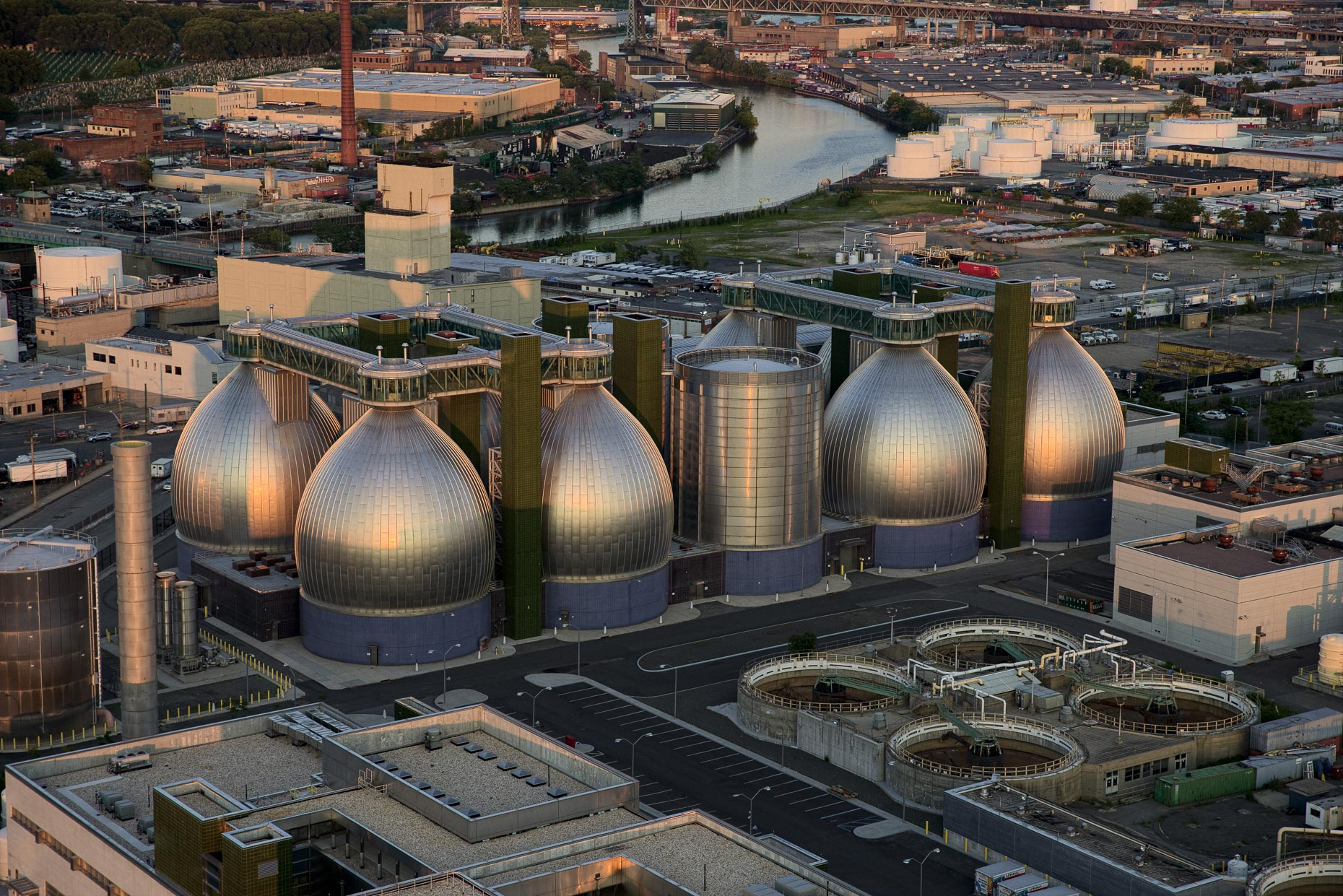 Newtown Creek Digester Eggs in Brooklyn