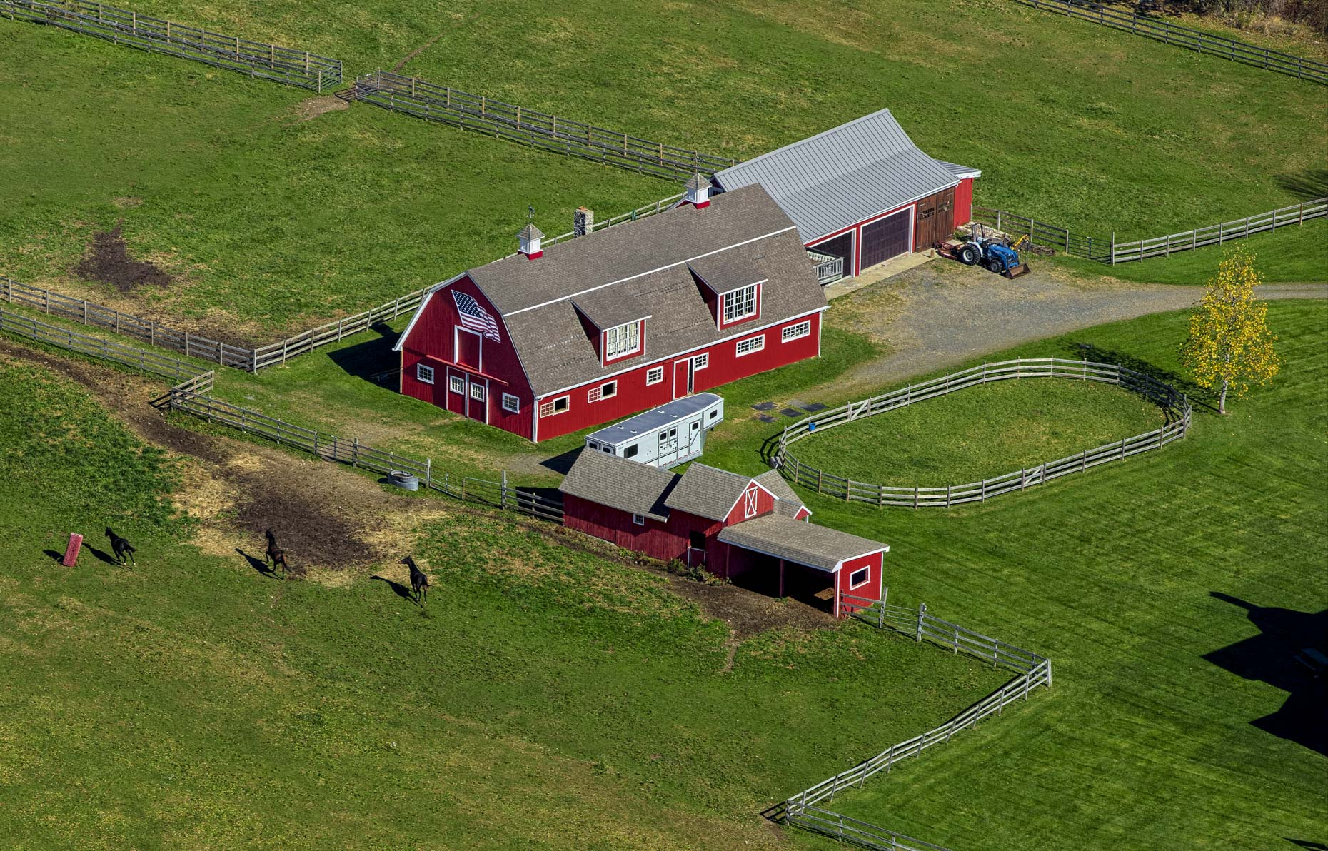 Putnam County NY horse farm  aerial photography by stefen turner