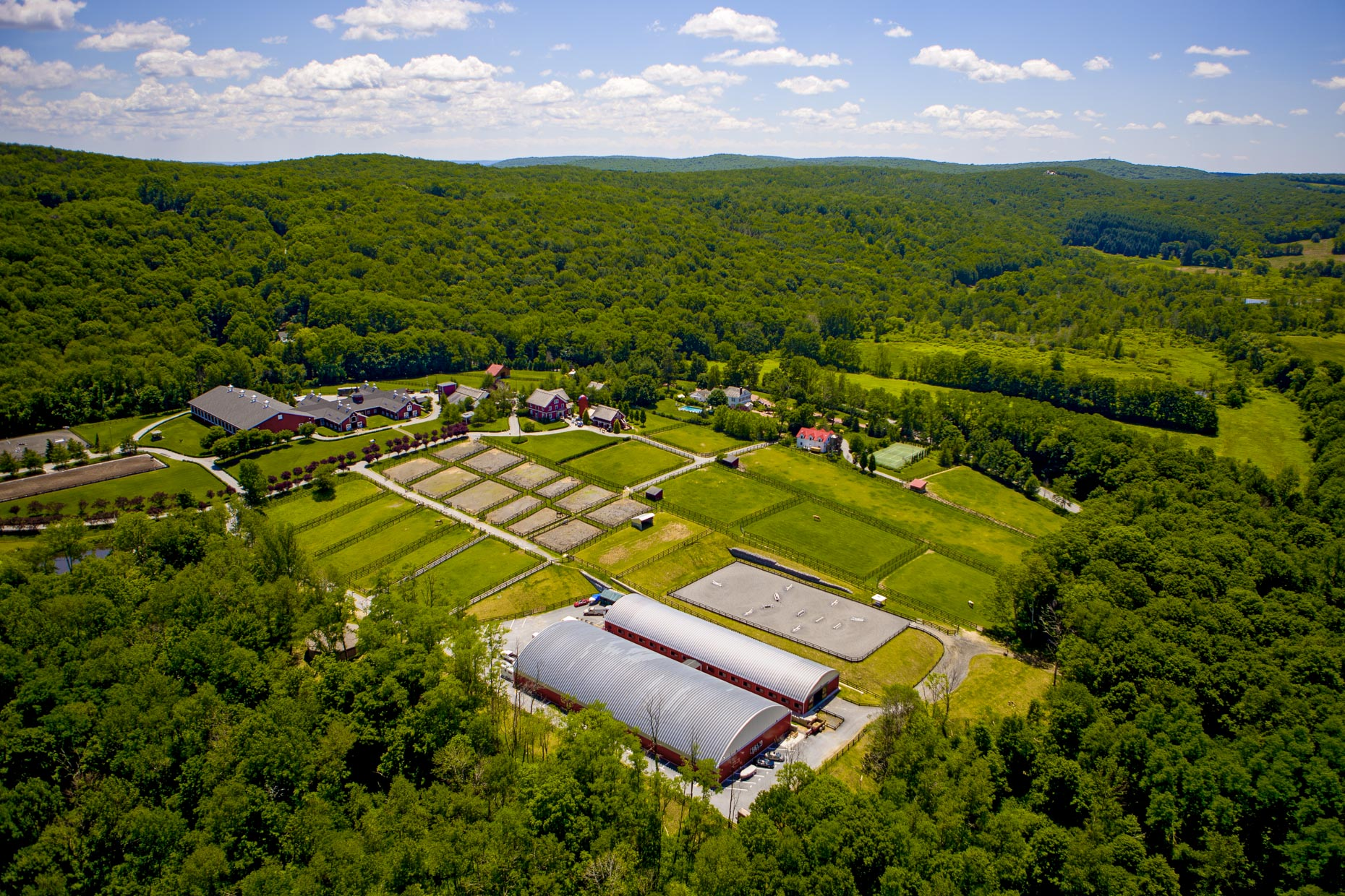 Aerial Photography of NY CT Horse Farms